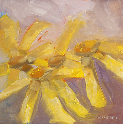 Yellow Broom Senecio Colorado Wildflower Painting